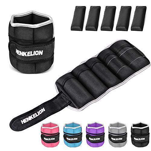 """<p><strong>Henkelion</strong></p><p>amazon.com</p><p><strong>$35.99</strong></p><p><a href=""""https://www.amazon.com/dp/B07H7DJX7G?tag=syn-yahoo-20&ascsubtag=%5Bartid%7C2141.g.34371548%5Bsrc%7Cyahoo-us"""" rel=""""nofollow noopener"""" target=""""_blank"""" data-ylk=""""slk:Shop Now"""" class=""""link rapid-noclick-resp"""">Shop Now</a></p><p>These ankle weights can introduce some resistance to your routine without requiring you to carry around weights. All you have to do is <strong>strap them to your ankles or wrists</strong> for an extra challenge. </p>"""