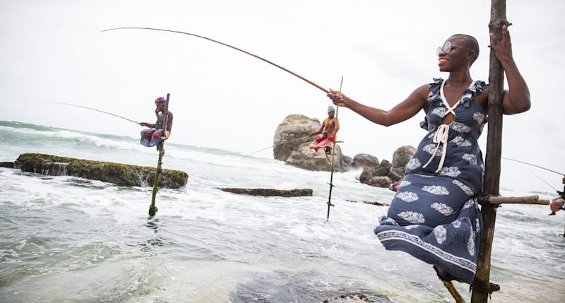Jessica Nabongo is slaying out on the sea in Sri Lanka. (Photo: Elton Anderson)