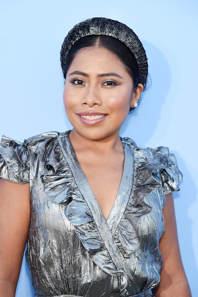 """<p>""""Although she has no formal training in acting, Yalitza took audiences by storm last year as Cleo, the main role in Oscar-winning film <strong>Roma</strong>. She was nominated for best actress at the Oscars for the part, making her only the second Mexican to ever garner a nomination in that category."""" - <a href=""""https://www.forbes.com/profile/yalitza-aparicio/#46bad34d3f02"""" target=""""_blank"""" class=""""ga-track"""" data-ga-category=""""Related"""" data-ga-label=""""https://www.forbes.com/profile/yalitza-aparicio/#46bad34d3f02"""" data-ga-action=""""In-Line Links"""">Forbes</a></p>"""
