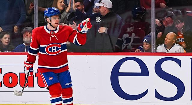 Max Domi is loving his time in Montreal. (Getty)