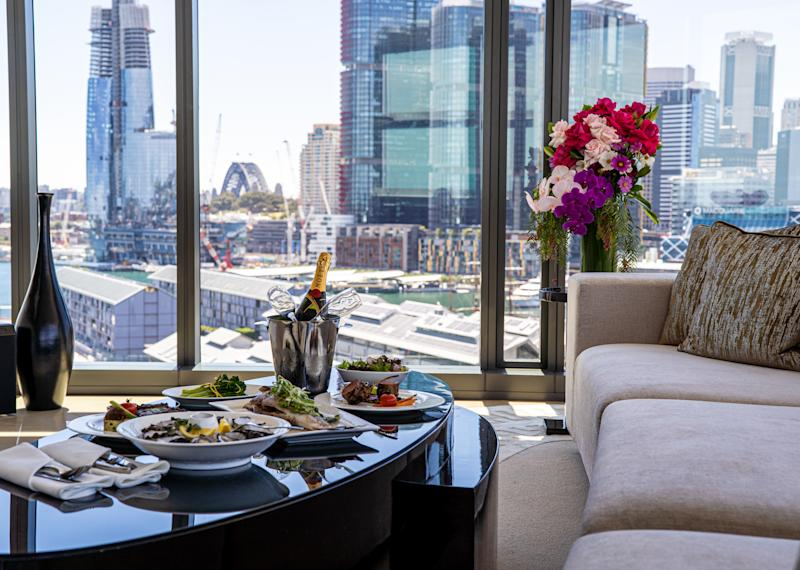 Guests can relax in the penthouses' spacious living areas. Photo: The Star Sydney