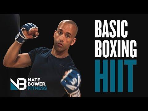 """<ul><li><strong>Equipment: </strong>None</li></ul><p>Learn the basics of shadowboxing with trainer Nate. It's an interval workout, working with the basics of HIIT and improving your skills at the same time. Level up and sweat it out – win. </p><p><a href=""""https://www.youtube.com/watch?v=yGNMZoqTbKY&ab_channel=NateBowerFitness"""" rel=""""nofollow noopener"""" target=""""_blank"""" data-ylk=""""slk:See the original post on Youtube"""" class=""""link rapid-noclick-resp"""">See the original post on Youtube</a></p>"""