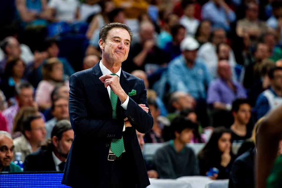 Rick Pitino coached Panathinaiskos to a Greek League title. (Getty Images)