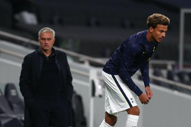 Jose Mourinho, left, has used Dele Alli sparingly this season