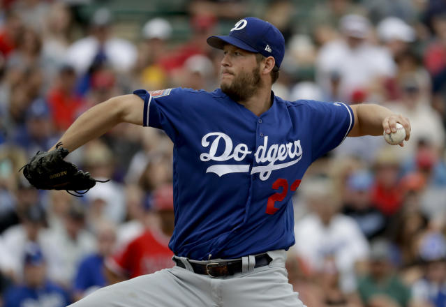 "Are there health concerns regarding Dodgers starting pitcher <a class=""link rapid-noclick-resp"" href=""/mlb/players/8180/"" data-ylk=""slk:Clayton Kershaw"">Clayton Kershaw</a>? (AP)"