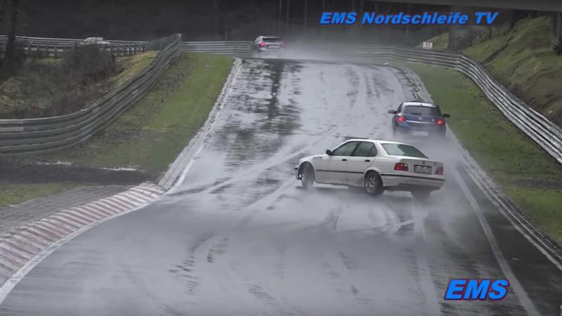 See What Happens When Amateurs Drive On A Wet Nürburgring