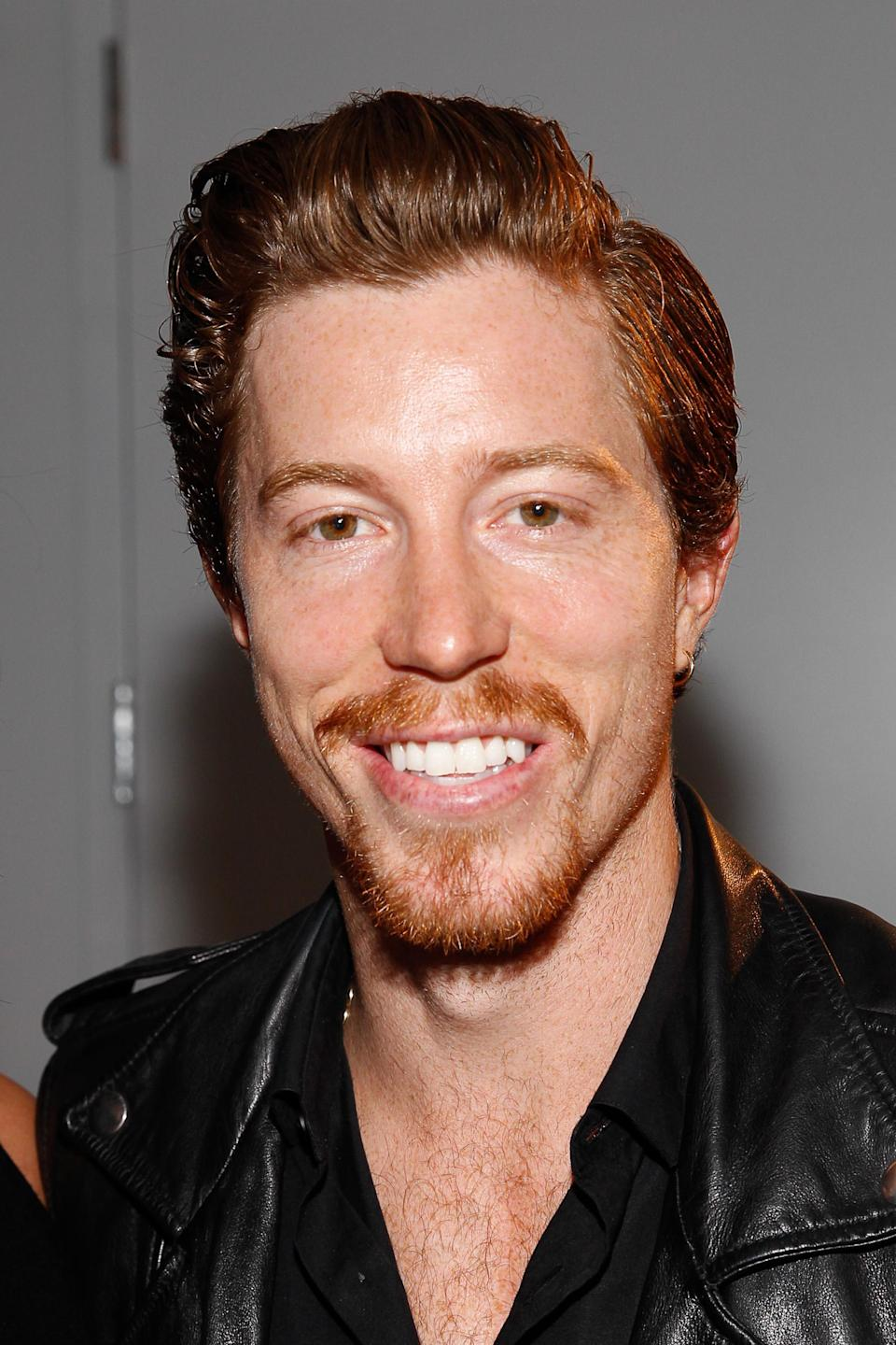 <p>Shaun White seen at MBFW Spring/Summer 2015 – Zac Posen fashion show at 3 East 54th Street on Monday, Sept 08, 2014 , in New York. (Photo by Mark Von Holden/Invision/AP) </p>