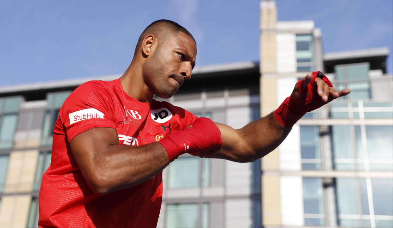 Britain Boxing - Kell Brook & Errol Spence Public Work-Outs - Peace Gardens, Sheffield - 24/5/17 Kell Brook during his work out Action Images via Reuters / Carl Recine Livepic