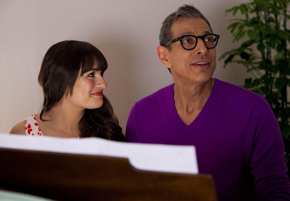 <p>Rachel had to get all that showbiz ambition from somewhere, and it all starts to make sense when you see one of her dads Hiram Berry is played by Jeff Goldblum. After audiences heard about the characters' dads for three seasons, the <em>Jurassic Park</em> actor made the wait worth it. </p>