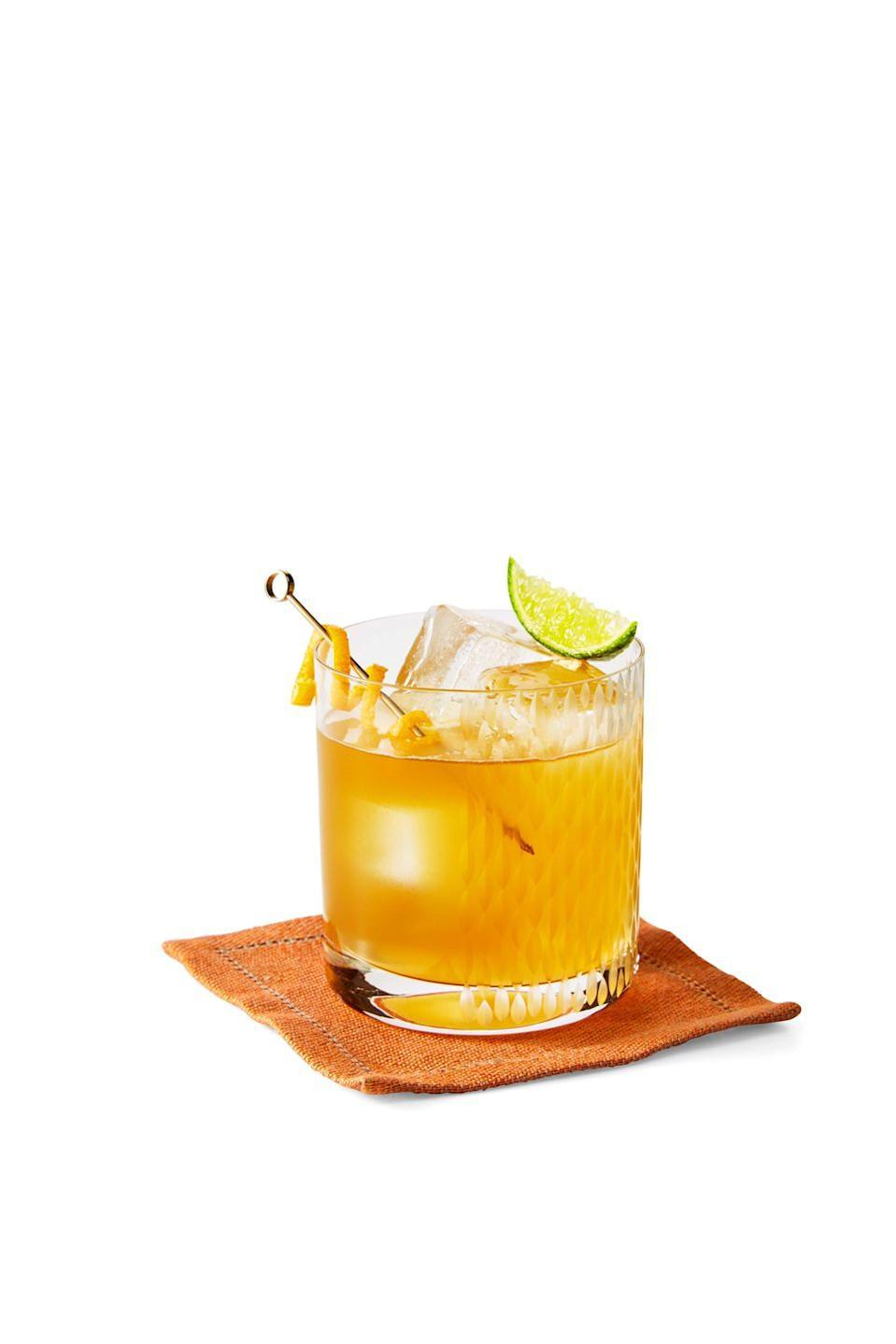 """<p>Fall foliage isn't the only view you'll be enjoying this season! Take a gander at this glorious go-to citrus drink. Maple syrup serves as a <em>natural sweetener</em> to this bourbon-based beverage.<br><br><em><a href=""""https://www.goodhousekeeping.com/food-recipes/a36890496/maple-whiskey-sour-recipe/"""" rel=""""nofollow noopener"""" target=""""_blank"""" data-ylk=""""slk:Get the recipe for Maple Whiskey Sour »"""" class=""""link rapid-noclick-resp"""">Get the recipe for Maple Whiskey Sour »</a></em><br></p>"""