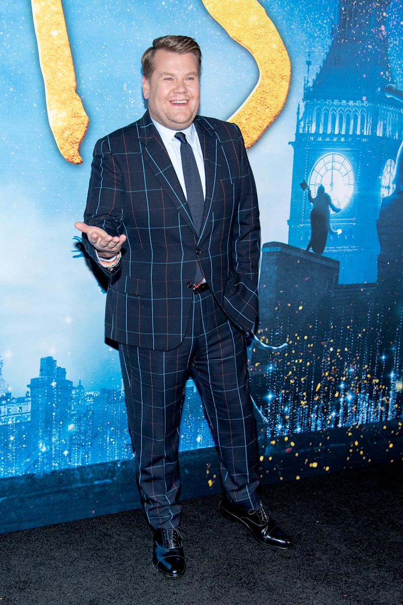 """James Corden attends the """"Cats"""" World Premiere at Alice Tully Hall, Lincoln Center on December 16, 2019 in New York City. (Photo by Roy Rochlin/FilmMagic)"""