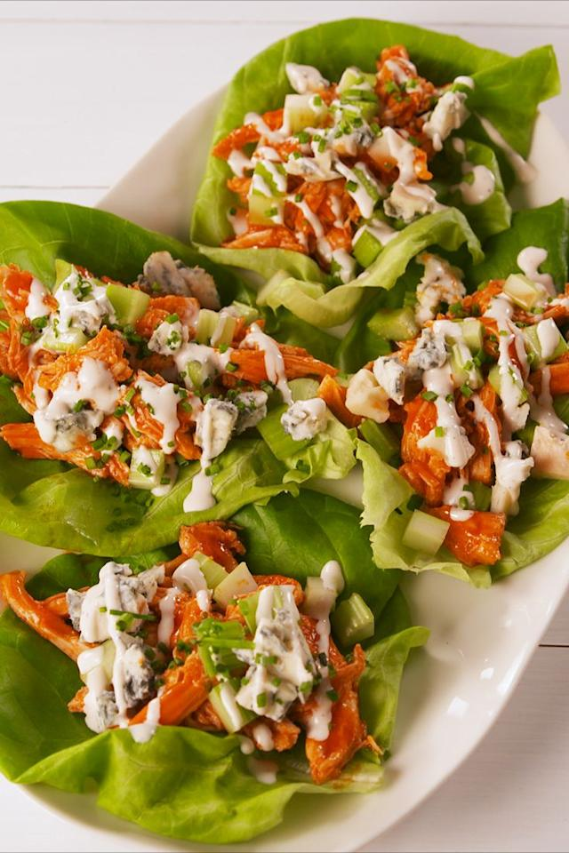 "<p>Spice up your life.</p><p>Get the recipe from <a rel=""nofollow"" href=""https://www.delish.com/cooking/a19645010/buffalo-chicken-lettuce-wraps-recipe/"">Delish</a>.</p><p><a rel=""nofollow"" href=""https://www.amazon.com/Creuset-Signature-Handle-Skillet-4-Inch/dp/B00B4UOTBQ/?tag=delish_auto-append-20&ascsubtag=[artid