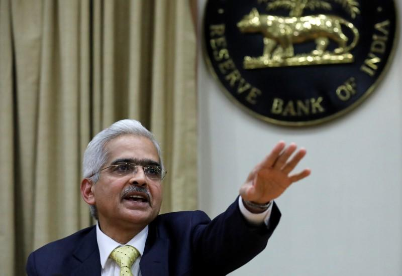 Shaktikanta Das, the new Reserve Bank of India Governor, gestures as he attends a news conference in Mumbai