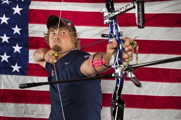Archer Brady Ellison poses for a portrait during the 2012 U.S. Olympic Team Media Summit in Dallas, May 13, 2012.