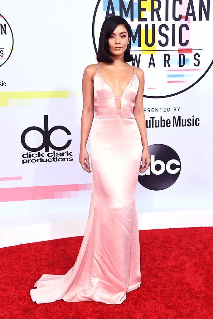 <p>Pink was popular at the ceremony, thanks, in part, to Vanessa Hudgens's Cushnie dress. The <i>Grease Live!</i> actress was one of the night's presenters. (Photo: Jon Kopaloff/FilmMagic) </p>