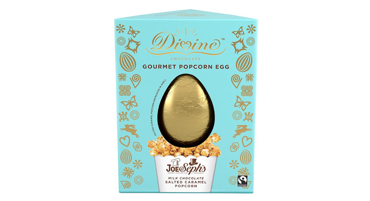 "While one member of staff felt very strongly an egg should not contain popcorn – bringing down the average score – it otherwise proved an office favourite. ""The popcorn egg is a wonderful concept backed up by the best tasting milk chocolate we've had so far,"" said one person, while another chipped in: ""An unexpected but delicious combination"". (Available in-store and <a href=""https://www.waitrose.com/ecom/products/divine-milk-chocolate-gourmet-popcorn-egg/559948-688265-570467"">online</a> from Waitrose.) <em>[Photo: Divine]</em>"