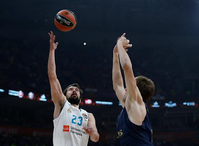 Basketball - Euroleague Final Four Final - Real Madrid vs Fenerbahce Dogus Istanbul - Stark Arena, Belgrade, Serbia - May 20, 2018 Real Madrid's Sergio Llull in action REUTERS/Alkis Konstantinidis