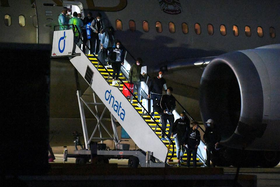 <p>Players and officials have been arriving in Melbourne this week</p> (AFP via Getty Images)