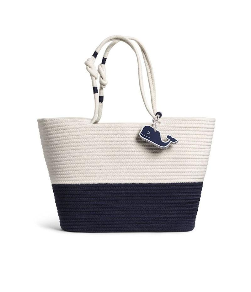 Vineyard Vines for Target Rope Beach Bag with Whale (Photo: Target)