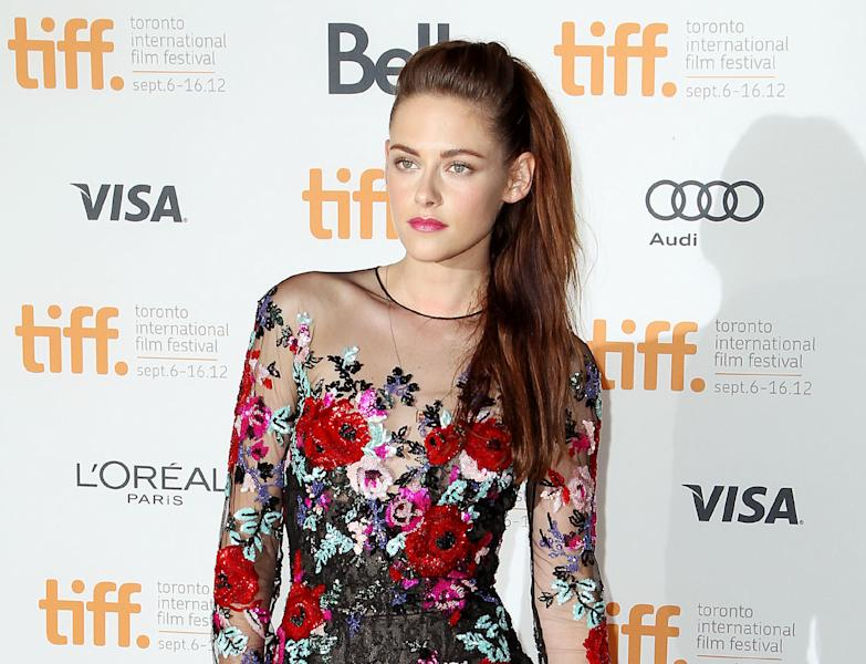 """This Thursday, Sept. 6, 2012 photo released by Starpix shows actress Kristen Stewart at the gala premiere for """"On the Road"""" during the Toronto International Film Festival in Toronto. (AP Photo/Starpix, Marion Curtis)"""