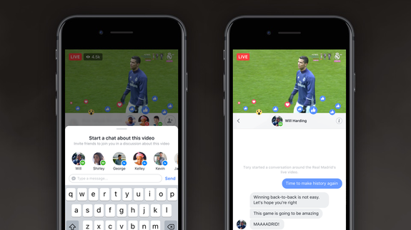 Facebook Brings Private Chat to Live Broadcasts