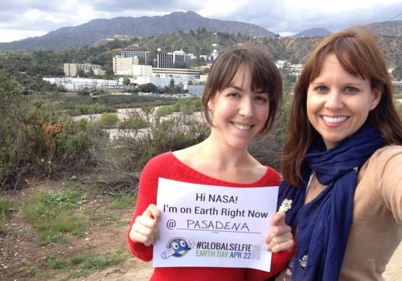 """On Earth Day, April 22, 2014, NASA invites you to celebrate by stepping outside, taking a """"selfie"""" and sharing it with the world on social media. The event is designed to encourage environmental awareness and recognize NASA's ongoing work to pr"""