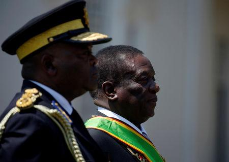 Zimbabwe's President Emmerson Mnangagwa arrives for the opening of Parliament in Harare, Zimbabwe, September 18, 2018. REUTERS/Philimon Bulawayo