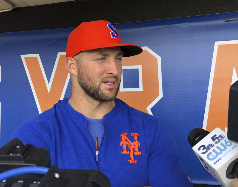 Syracuse Mets outfielder Tim Tebow.