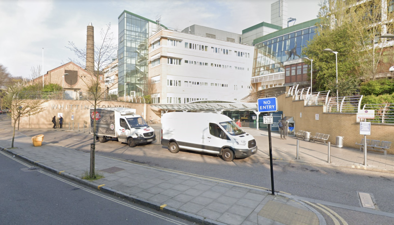 A pregnant woman has died while in labour at London's Whittington Hospital after testing positive for coronavirus.