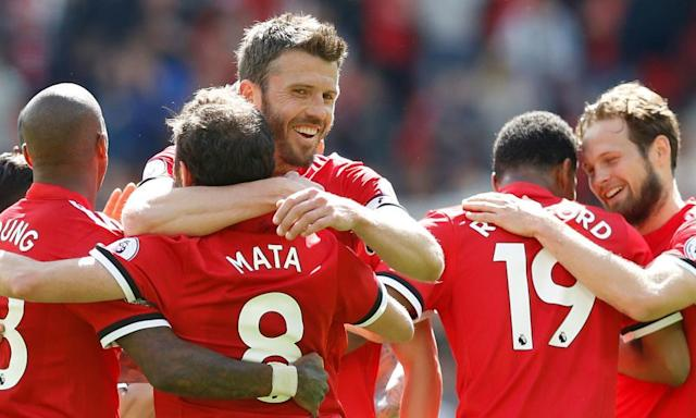Michael Carrick provides one last assist in Manchester United's win over Watford