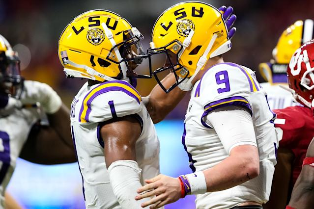 Ja'Marr Chase is one of the main targets for Joe Burrow and the explosive LSU offense. (Photo by Carmen Mandato/Getty Images)