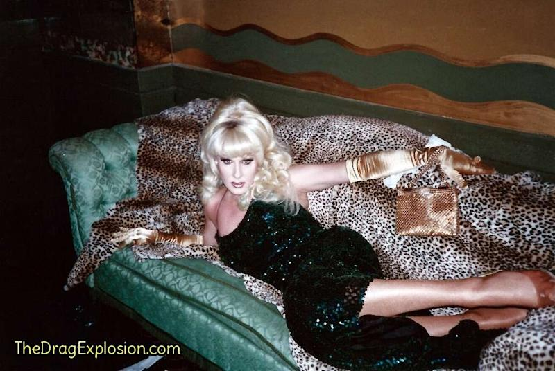 Lady Bunny at Webster Hall in 1992. (Linda Simpson -- The Drag Explosion)