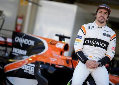 Formula One F1 - Brazilian Grand Prix 2017 - Sao Paulo, Brazil - November 12, 2017 McLaren's Fernando Alonso poses ahead of the Brazilian Grand Prix REUTERS/Ueslei Marcelino