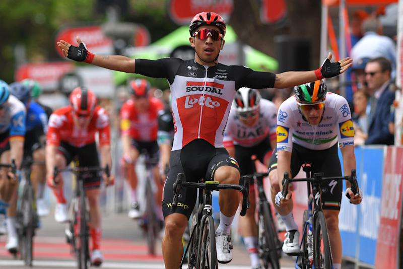 Lotto Soudal's Caleb Ewan wins stage 4 of the 2020 Tour Down Under ahead of Irish road race champion Sam Bennett (Deceuninck-QuickStep). Both riders will be among the favourites for the sprinter-friendly 2020 Milano-Torino