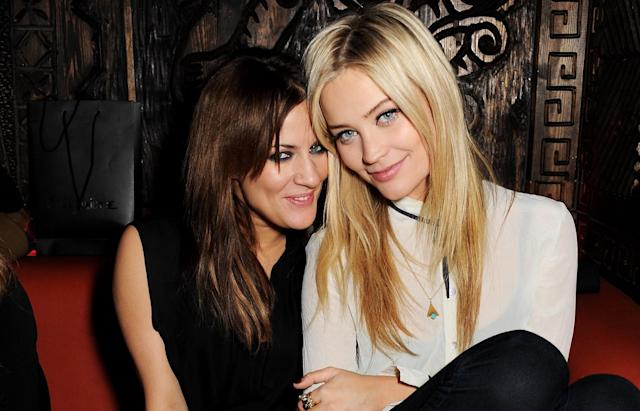 Caroline Flack and Laura Whitmore at the Rita Ora aftershow party at Mahiki London 2013. (Getty Images)