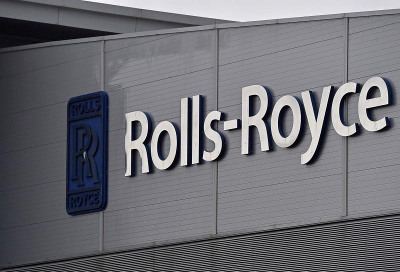FILE PHOTO: A Rolls-Royce logo is seen at the company's aerospace engineering and development site in Bristol