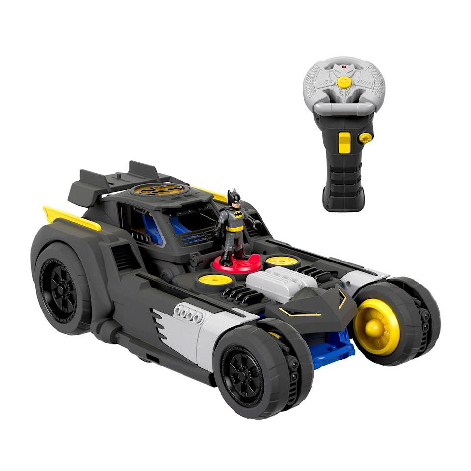"""<p><strong>Imaginext</strong></p><p>walmart.com</p><p><strong>$79.00</strong></p><p><a href=""""https://go.redirectingat.com?id=74968X1596630&url=https%3A%2F%2Fwww.walmart.com%2Fip%2F977531052&sref=https%3A%2F%2Fwww.goodhousekeeping.com%2Fchildrens-products%2Ftoy-reviews%2Fg29385769%2Fbest-toys-gifts-for-6-year-old-boys%2F"""" rel=""""nofollow noopener"""" target=""""_blank"""" data-ylk=""""slk:Shop Now"""" class=""""link rapid-noclick-resp"""">Shop Now</a></p><p>This remote-controlled car zooms around with an easy-to-use remote. But kid testers loved when <strong>it transforms into battle mode</strong>, raising up and shooting four projectile discs. There are also accompanying lights and sounds. <em>Ages 3+</em><br></p>"""
