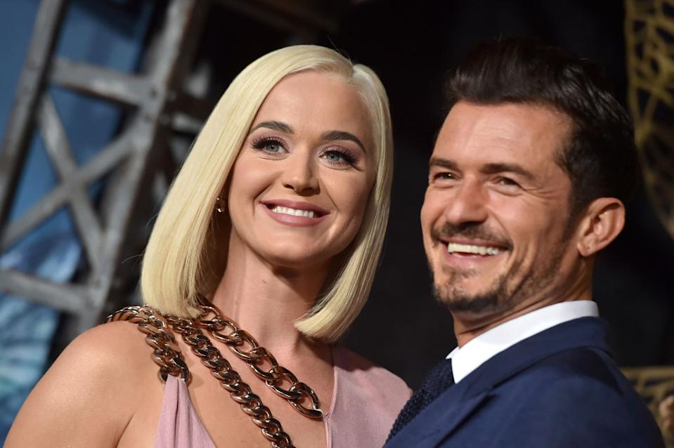 Katy Perry and Orlando Bloom are soon to be parents, pictured here in August 2019. (Getty Images)
