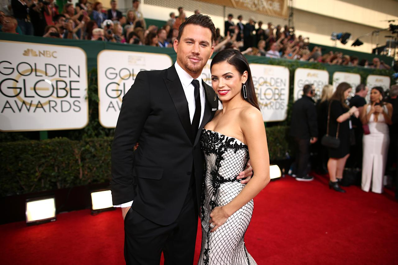Channing Tatum and Jenna Dewan first met on the set of their hit film 'Step Up' in 2006. The pair became engaged during a trip to Maui in 2008 and they tied the knot in Malibu the following year. The pair welcomed a baby girl, Everly, in June 2013. After nine years of marriage the pair announced that they were separating in April 2018. Photo: Getty Images