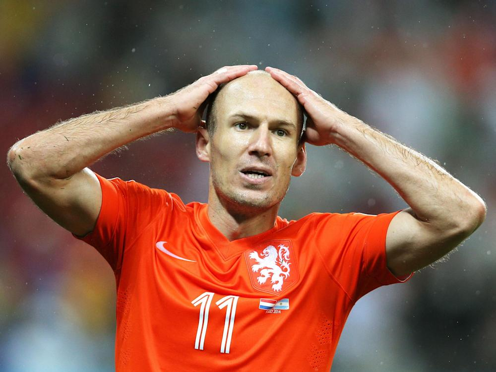 Not even a player of Arjen Robben's quality has been able to arrest Holland's decline: Getty