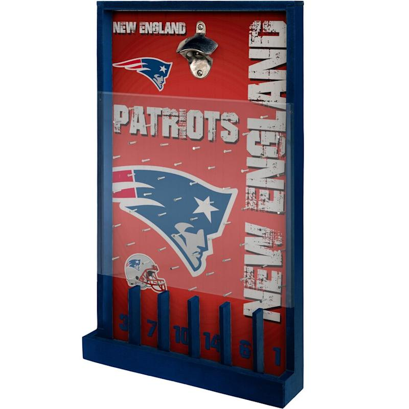 New England Patriots Wood Bottle Opener