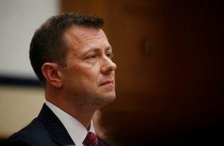 "FBI Deputy Assistant Director Peter Strzok testifies before a House Committees on the Judiciary and Oversight & Government Reform joint hearing on ""Oversight of FBI and DOJ Actions Surrounding the 2016 Election""in Washington, U.S., July 12, 2018. REUTERS/Leah Millis?"