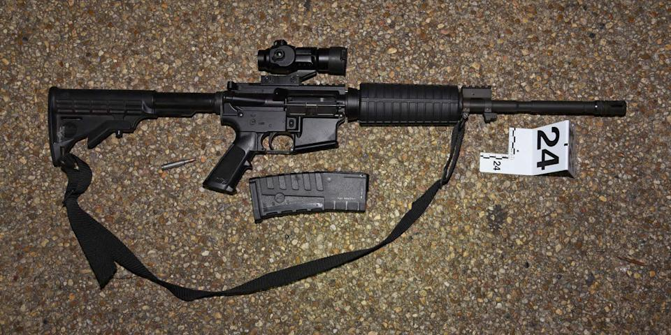 One of the weapons found in the truck of Lonnie Leroy Coffman in Washington, D.C., on Jan. 6, 2021. (U.S. Capitol Police)