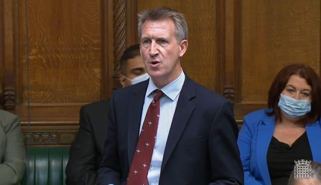 Dan Jarvis, Labour MP for Barnsley Central, speaking during the debate on the situation in Afghanistan