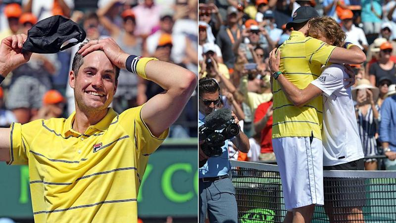 Isner's words for Zverev were all class. Pic: Getty