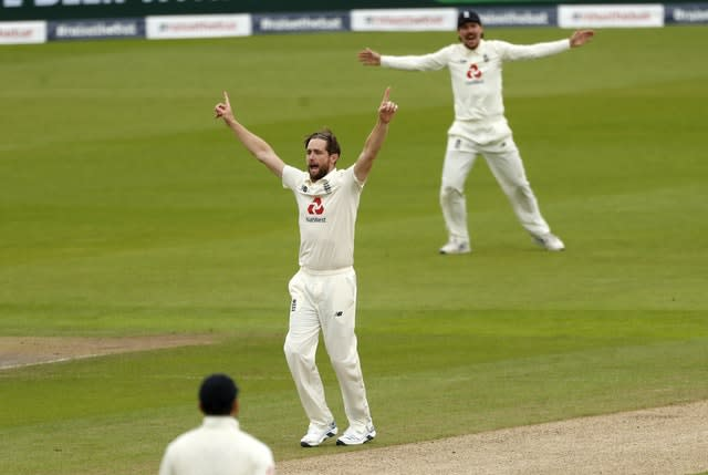 Woakes struck to claim the second wicket