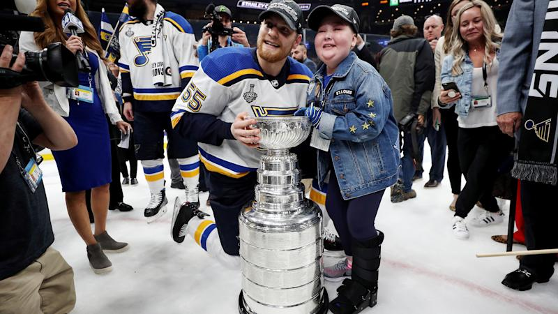 St. Louis Blues superfan Laila Anderson continues to be one of the best stories in hockey. (Patrick Smith/Getty Images)