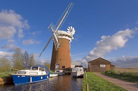 The windmill at Horsey Broads - Credit: Getty