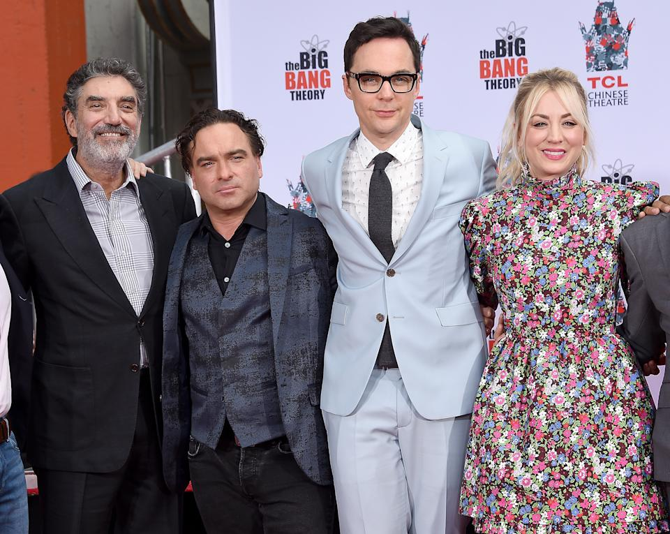 Kaley Cuoco (with Chuck Lorre, Johnny Galecki and Jim Parsons in 2019) says the Big Bang Theory's ending left her in a