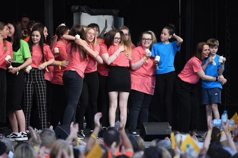 The Manchester Survivors Choir performs during the 'Manchester Together - With One Voice' (Getty Images)
